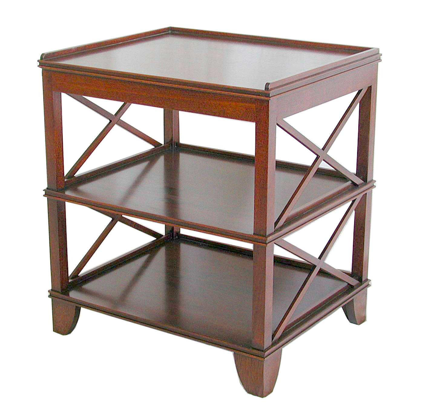 Tiered X side Table (No Drawer) #1087