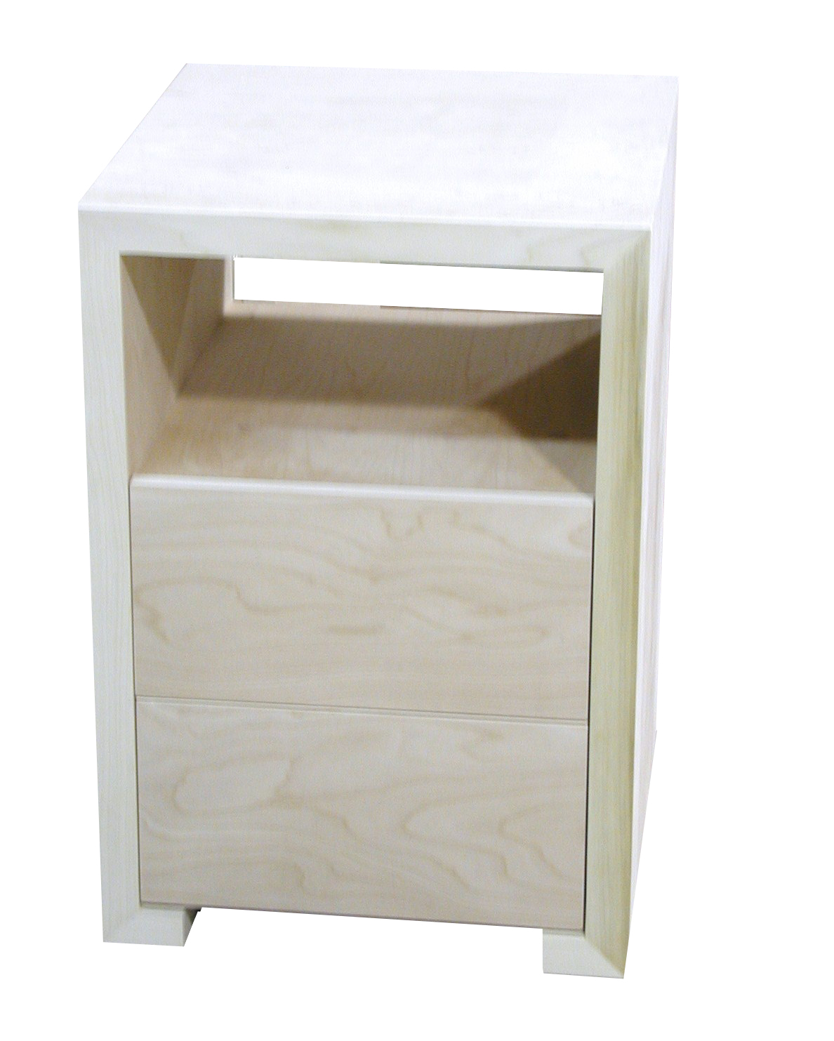 Two Drawer/Open Shelf Side Table #2059