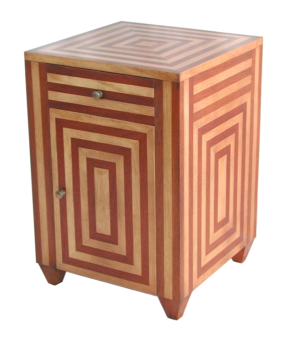 Stripe Cabinet Side Table #2067