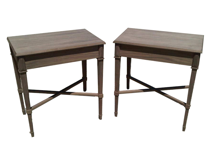 X Stretcher Side Tables #2073