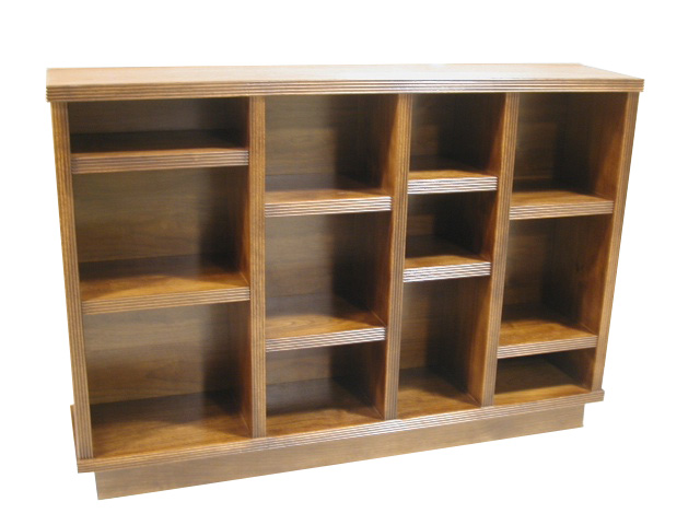 Modern Reeded Bookcase #2111