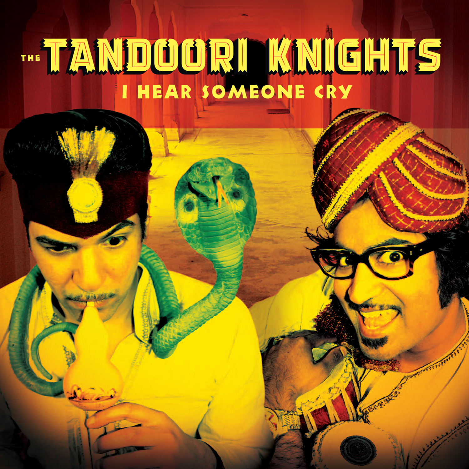 The Tandoori Knights - I Hear Someone Cry 45 sleeve