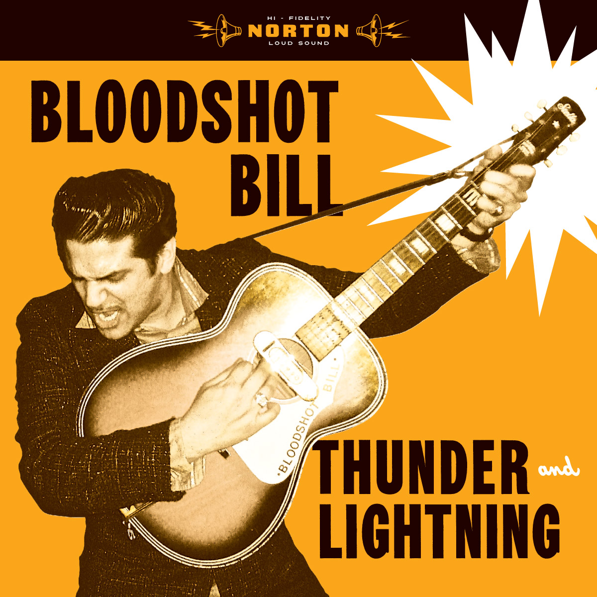 Bloodshot Bill - Thunder and Lightning LP sleeve