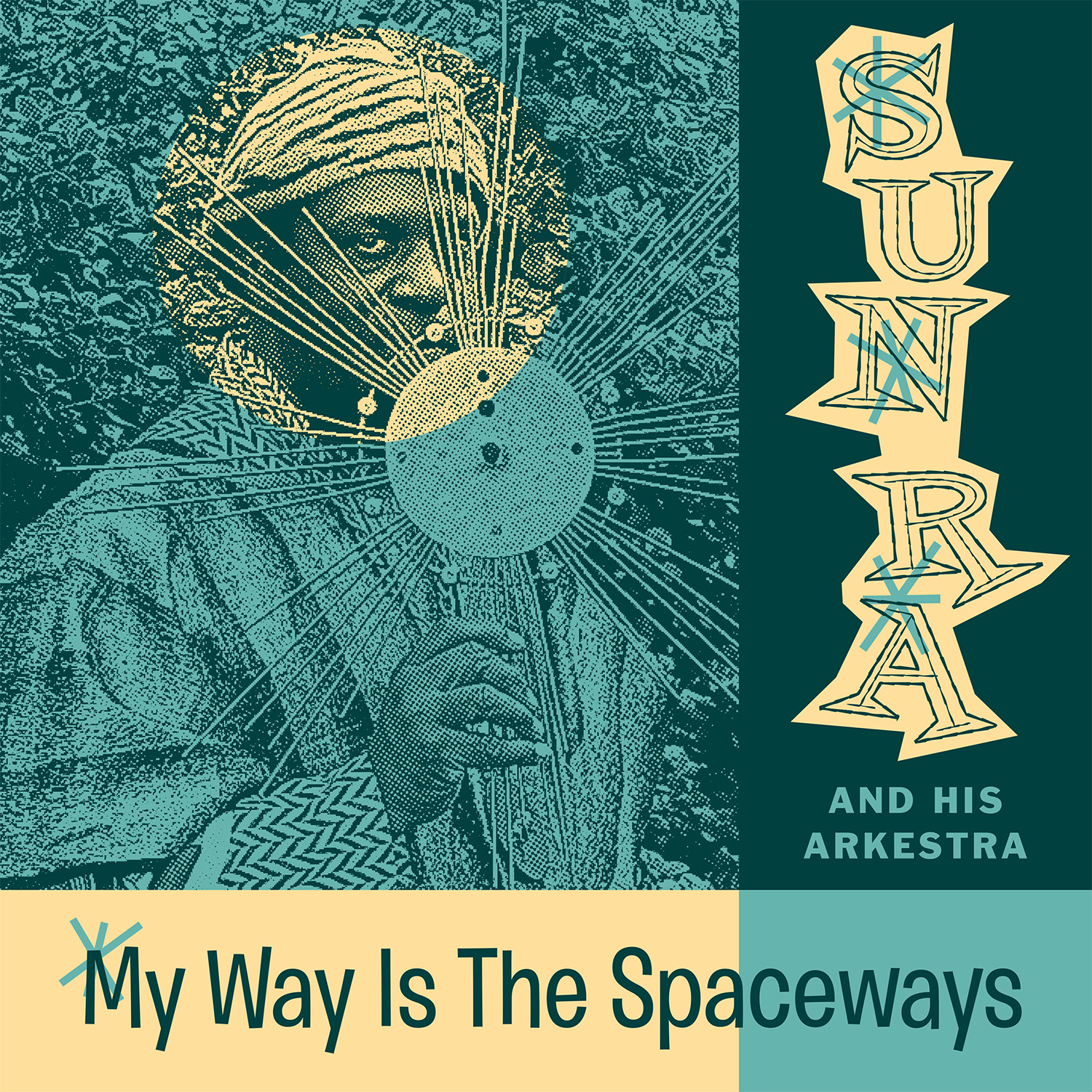 Sun Ra - My Way is the Spaceways LP cover