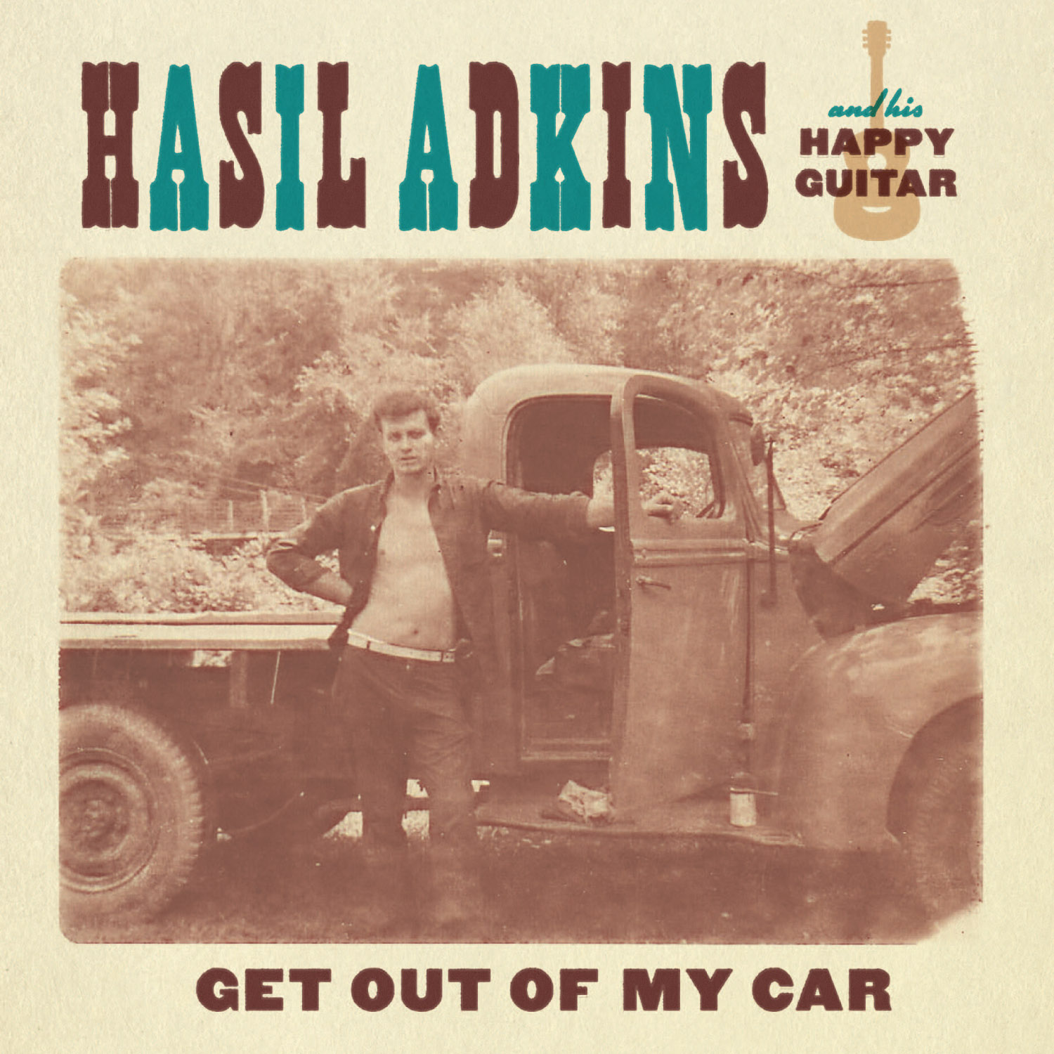 Hasil Adkins - Get Out of My Car 45 sleeve