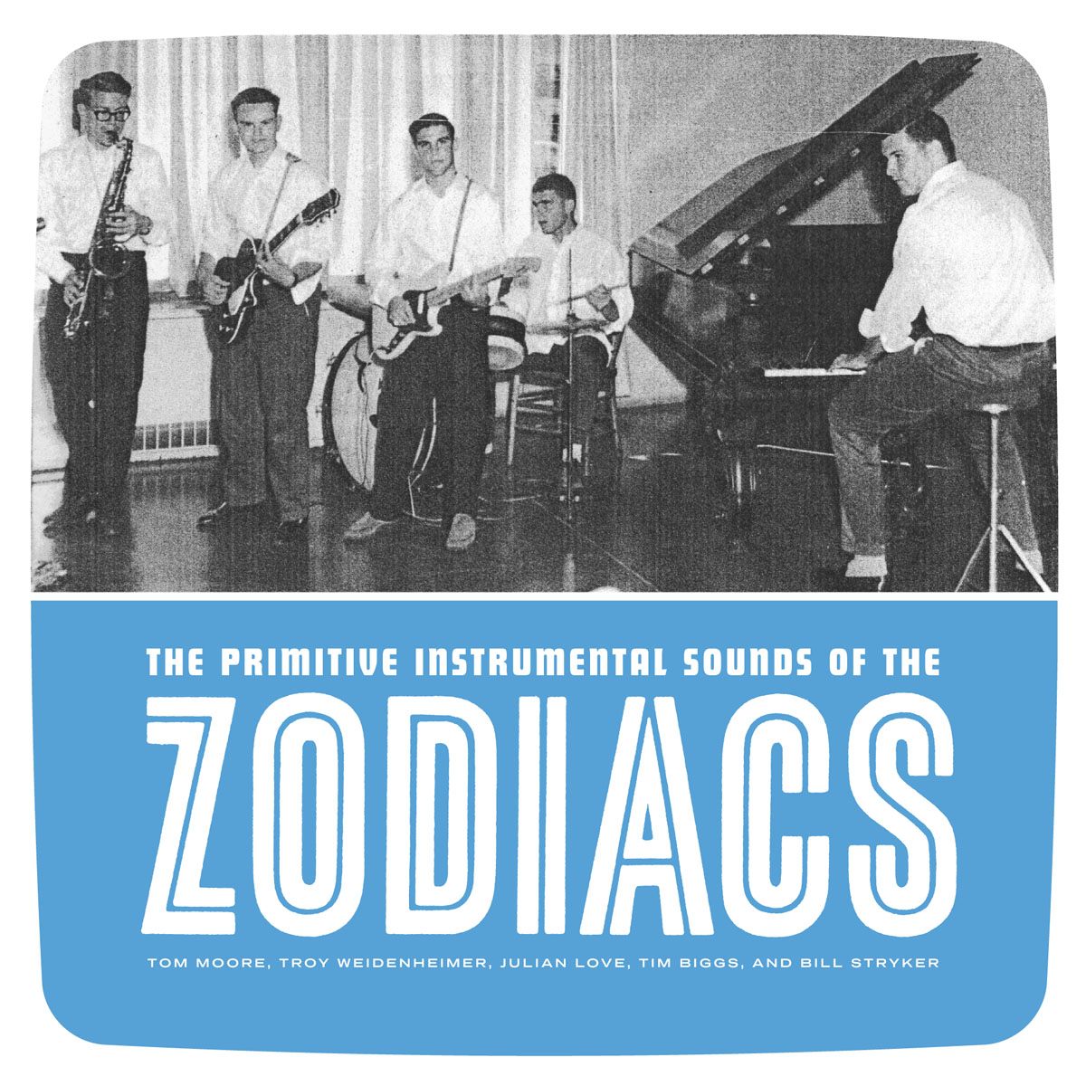The Zodiacs - Primitive Instrumental Sounds 45 sleeve