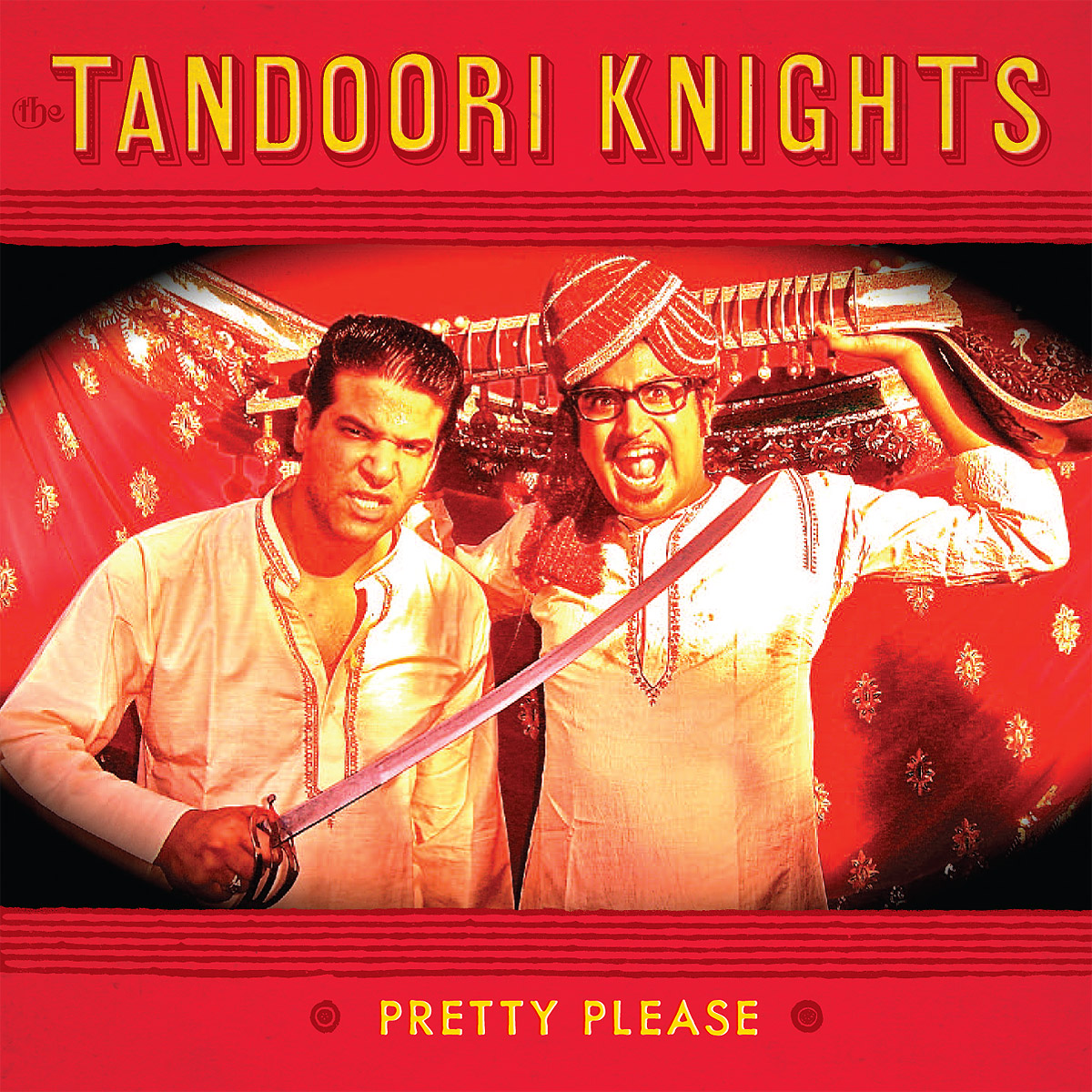 The Tandoori Knights - Pretty Please 45 sleeve