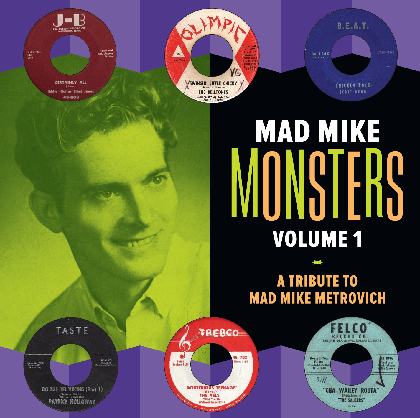 Mad Mike Monsters, Vol. 1 LP/CD cover
