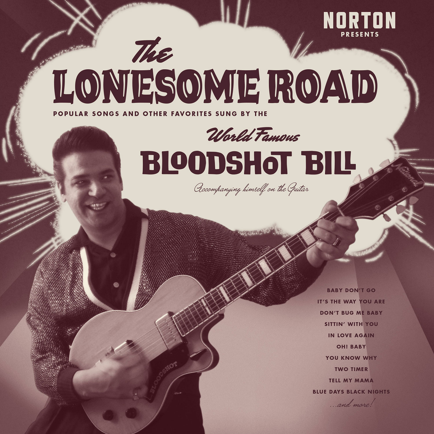 Bloodshot Bill - The Lonesome Road LP cover