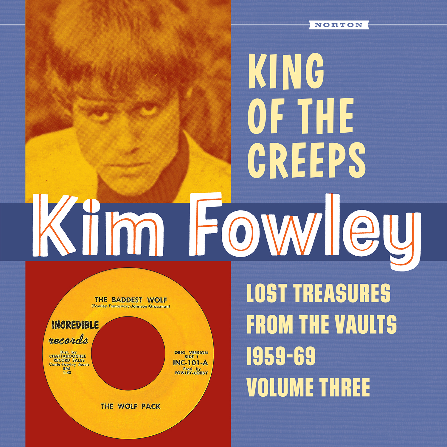 Kim Fowley - King of the Creeps LP/CD cover