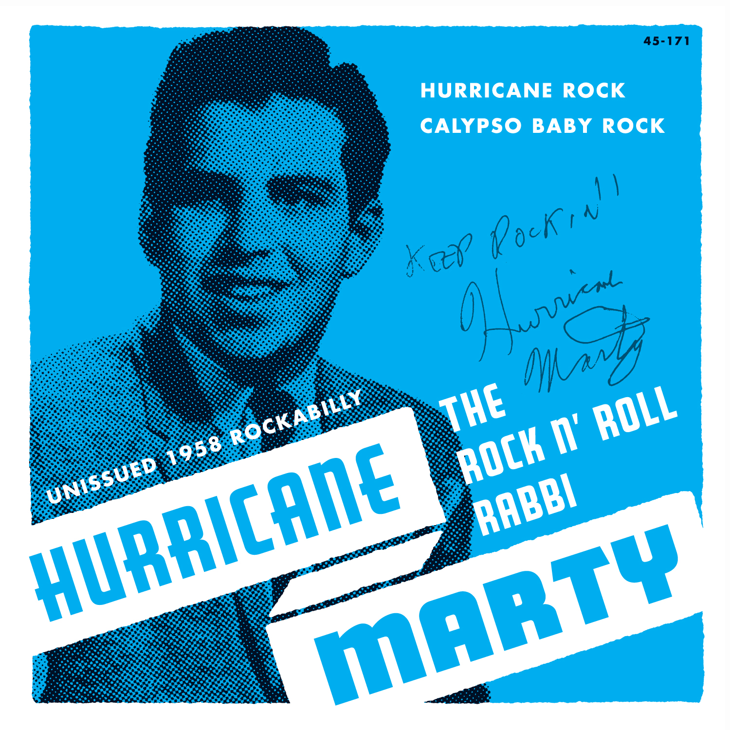 Hurricane Marty - The Rock N' Roll Rabbi 45 sleeve