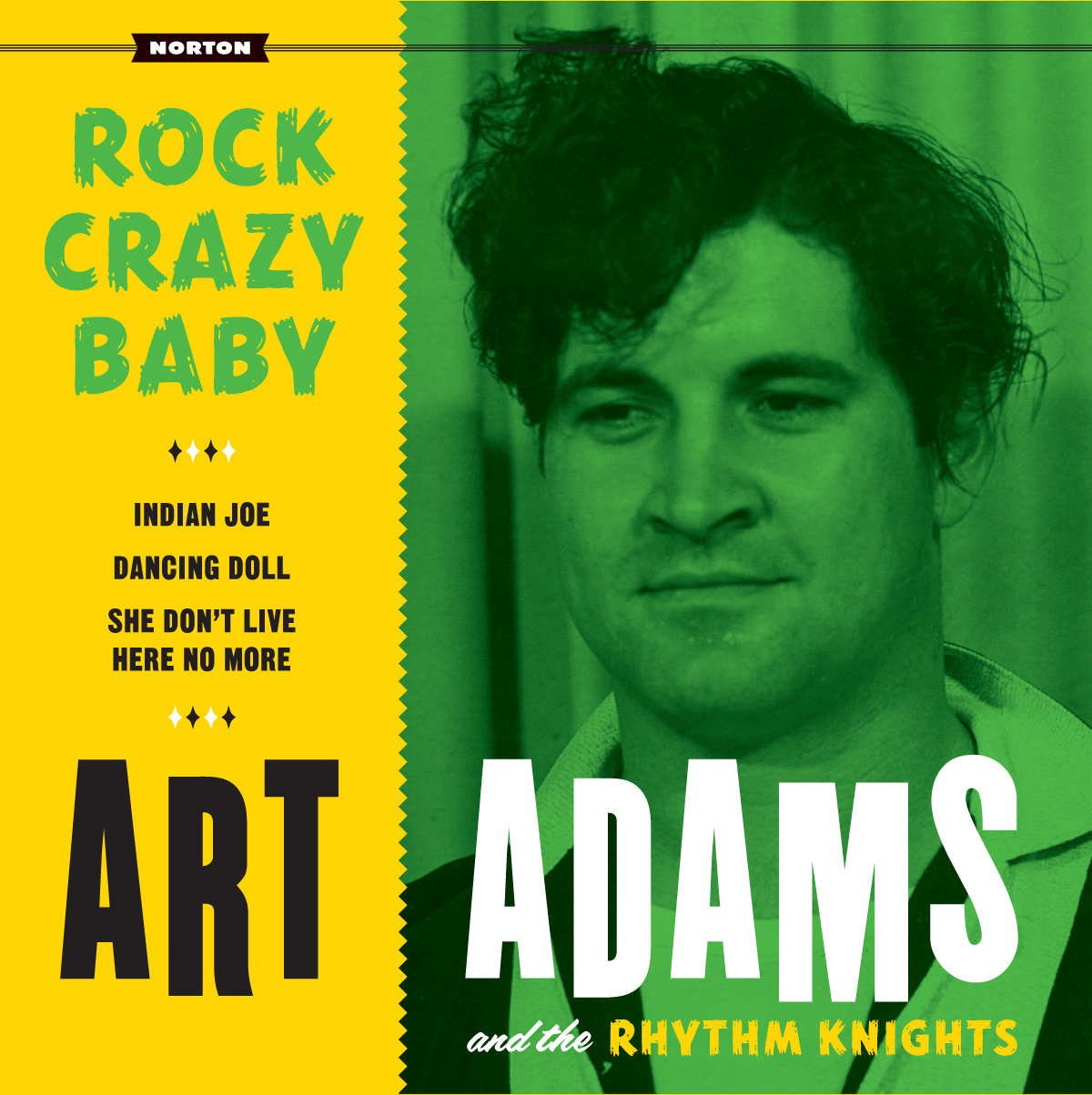 Art Adams - Rock Crazy Baby 45 sleeve