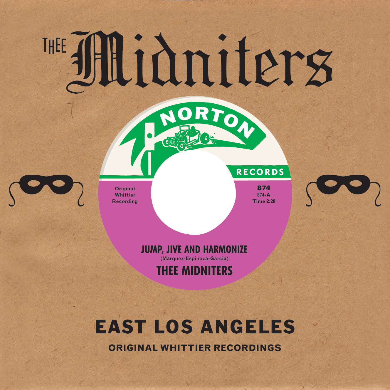 Thee Midniters - Jump, Jive and Harmonize 45 sleeve