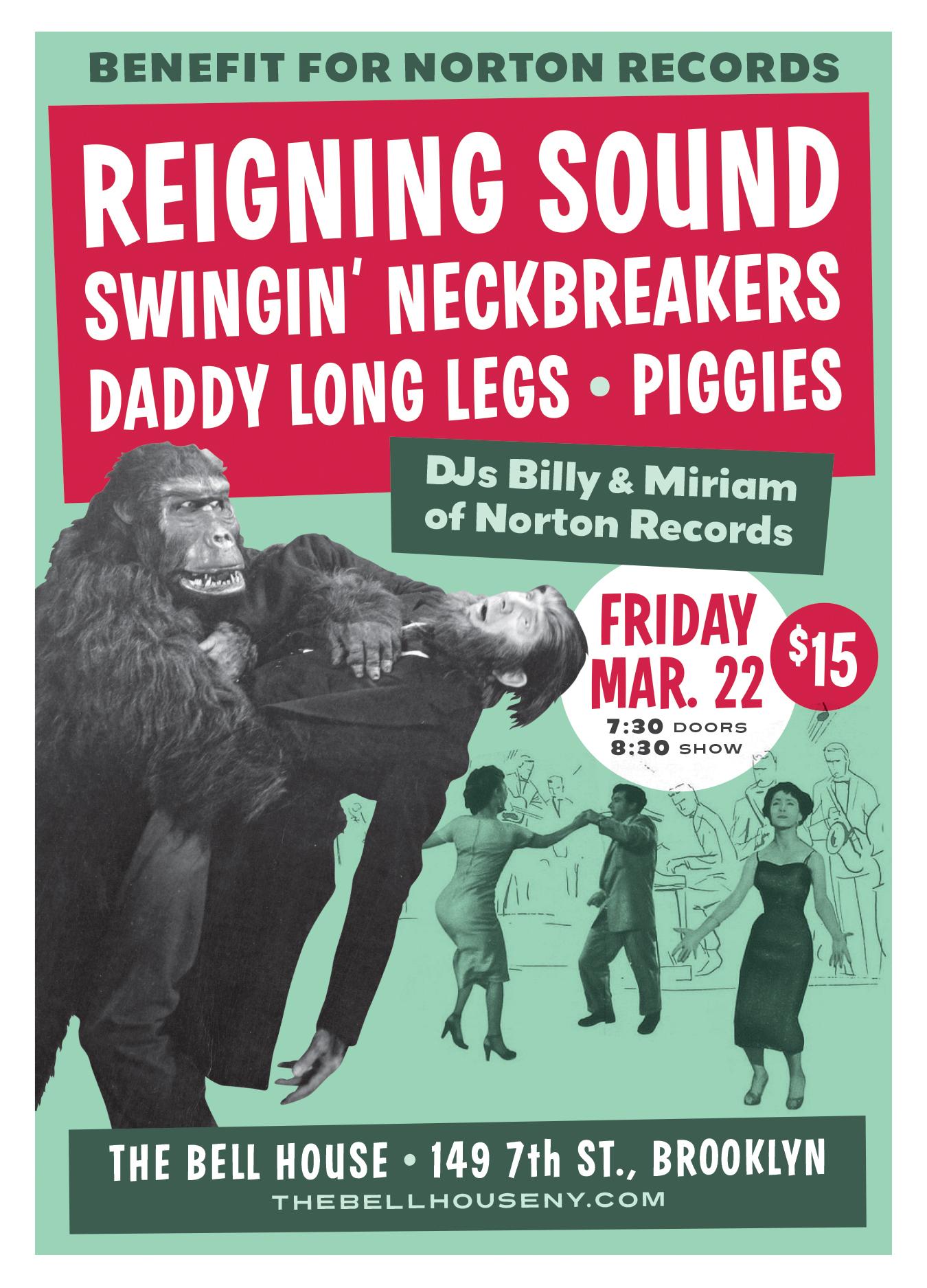 Norton Records benefit poster