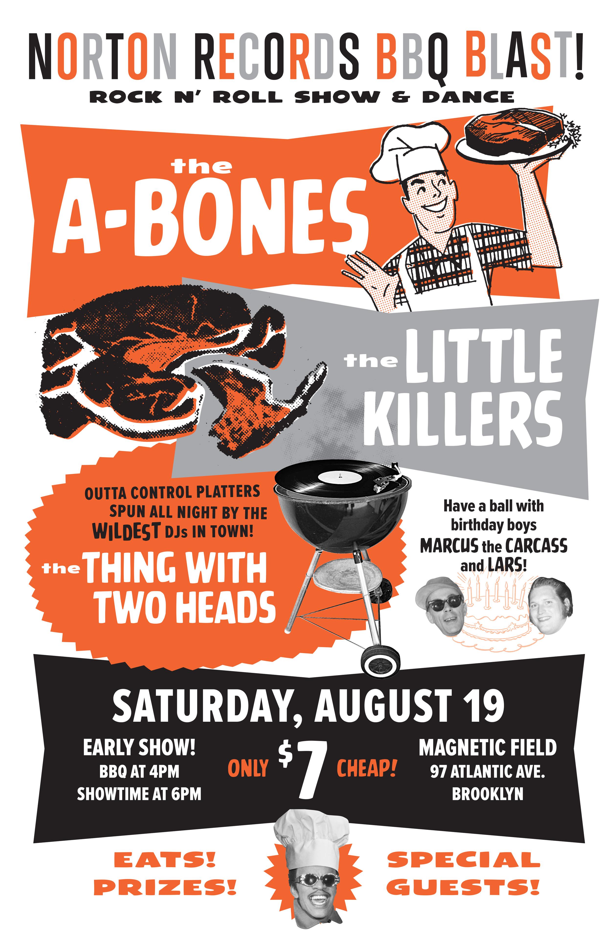 The A-Bones BBQ poster
