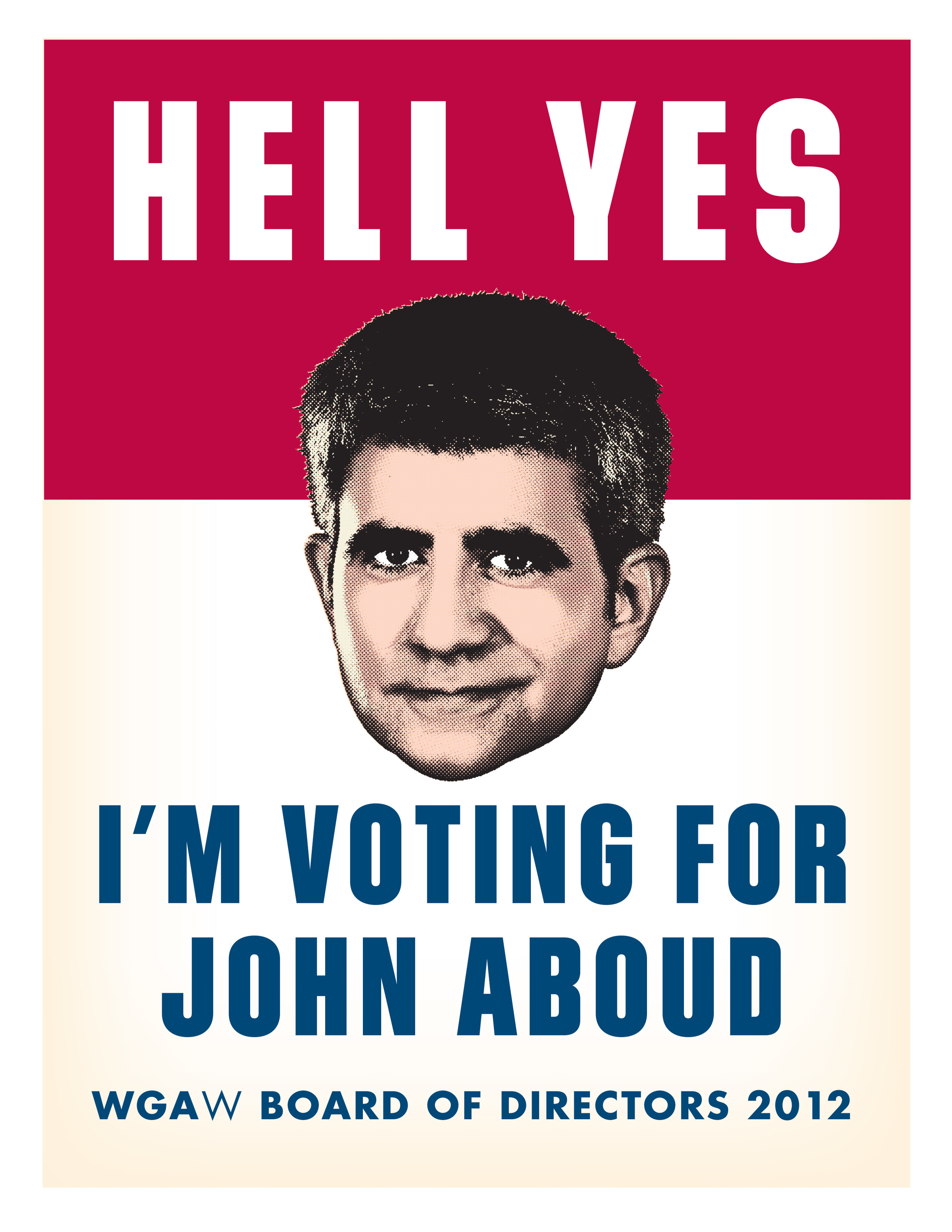 John Aboud campaign poster
