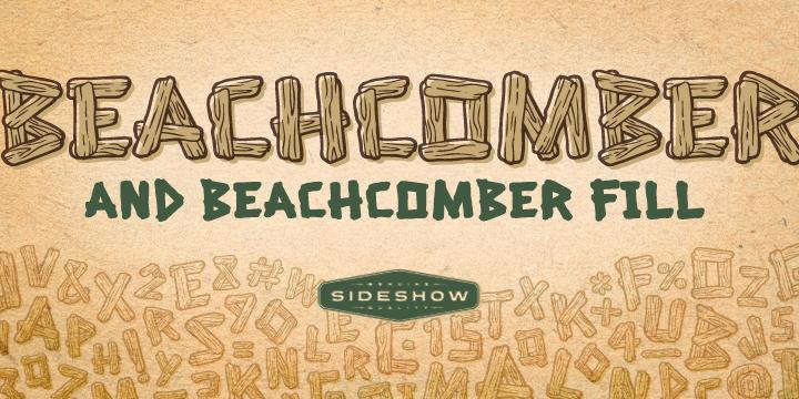 Beachcomber font poster