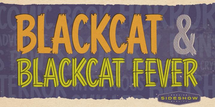 Blackcat font poster