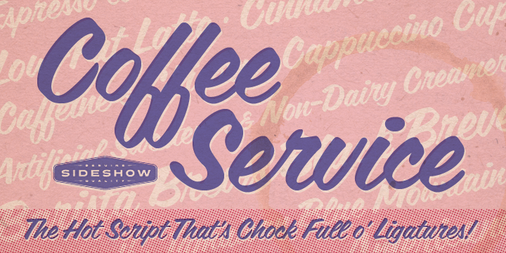 Coffee Service font poster