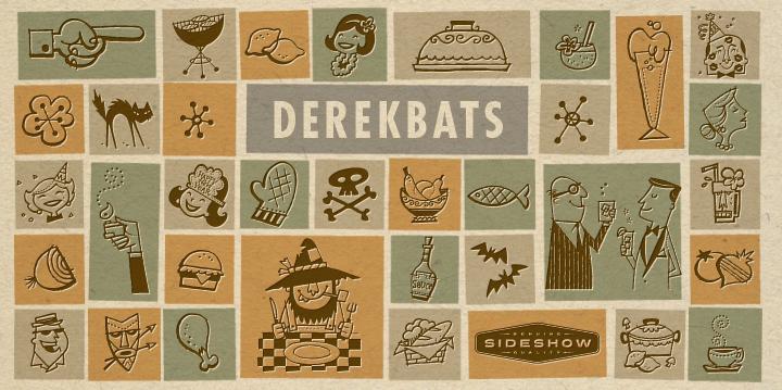 Derekbats font poster
