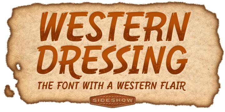 Western Dressing font poster