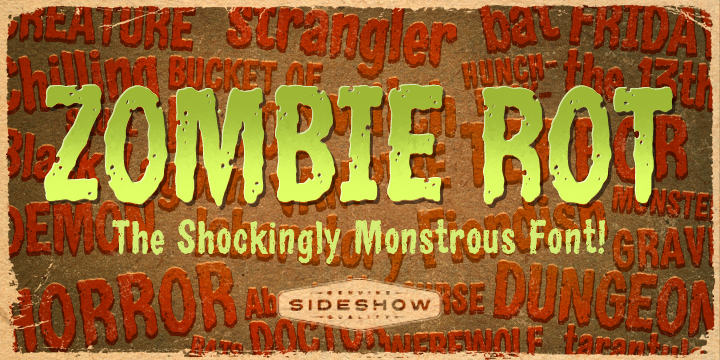 Zombie Rot font poster