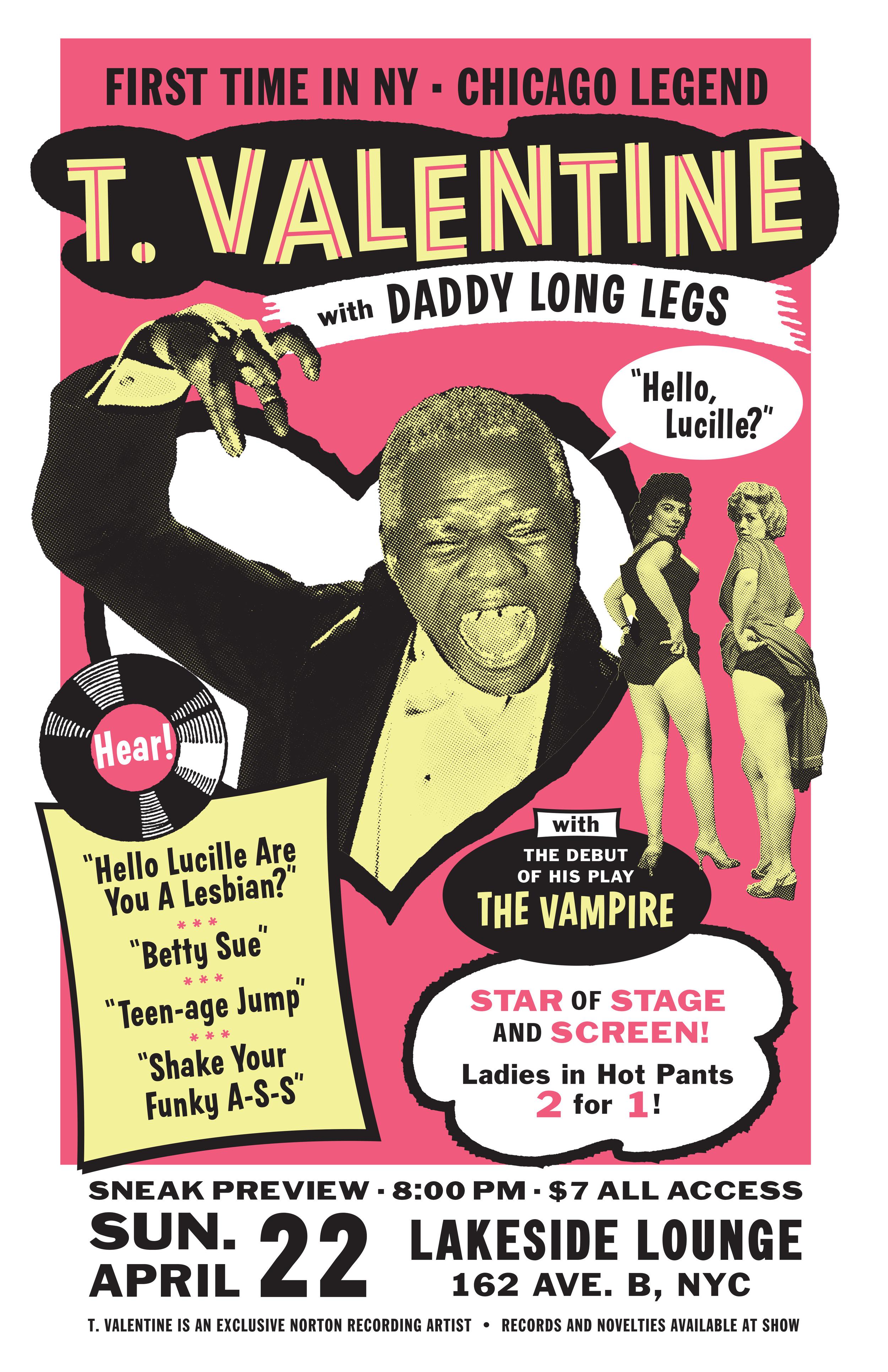T. Valentine concert poster
