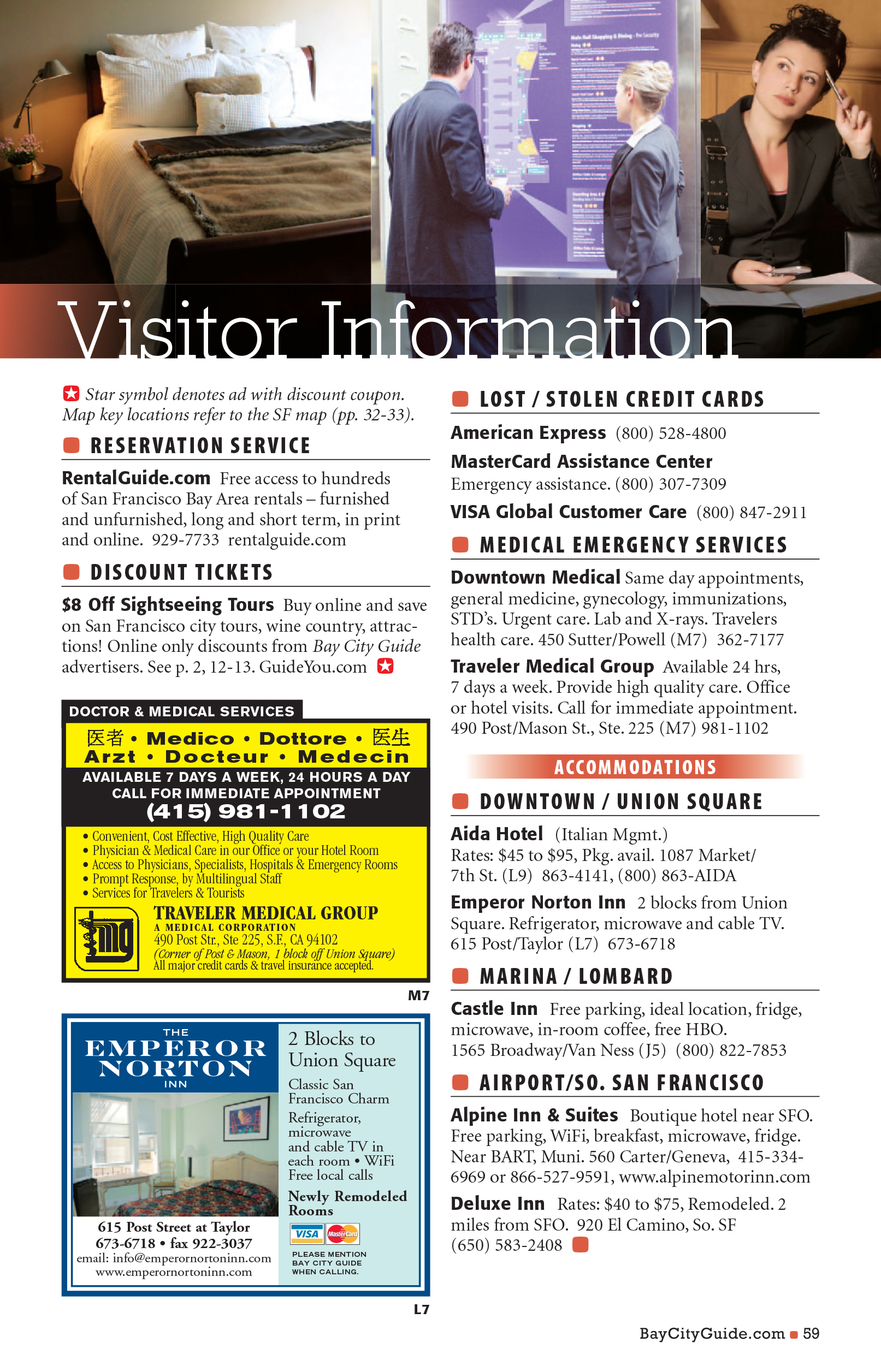 Bay City Guide magazine - Visitor Information