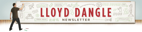 Lloyd Dangle newsletter header