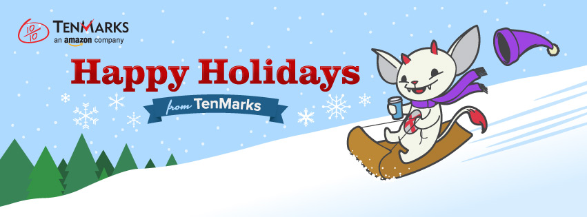 TenMarks Happy Holidays banner