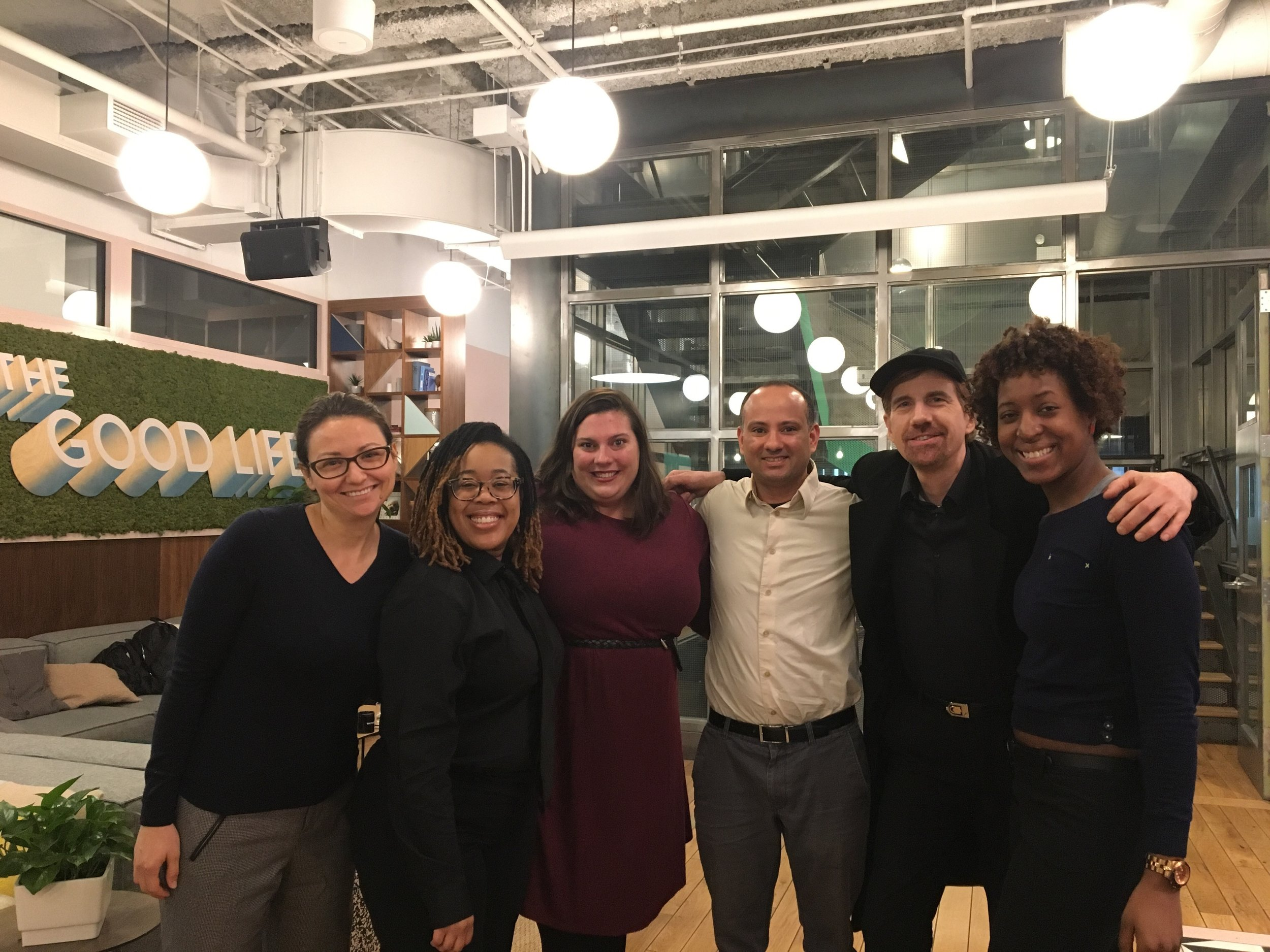 Jamie (in maroon) pictured here with members of our Chicago team at a recent coffee talk.