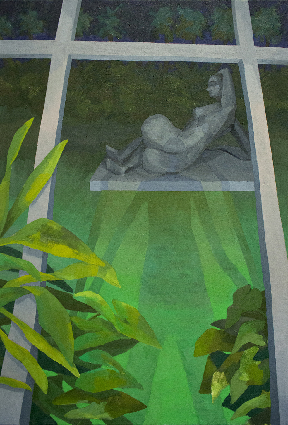2018  Oil on canvas  36 x 24 (91 x 61 cm)