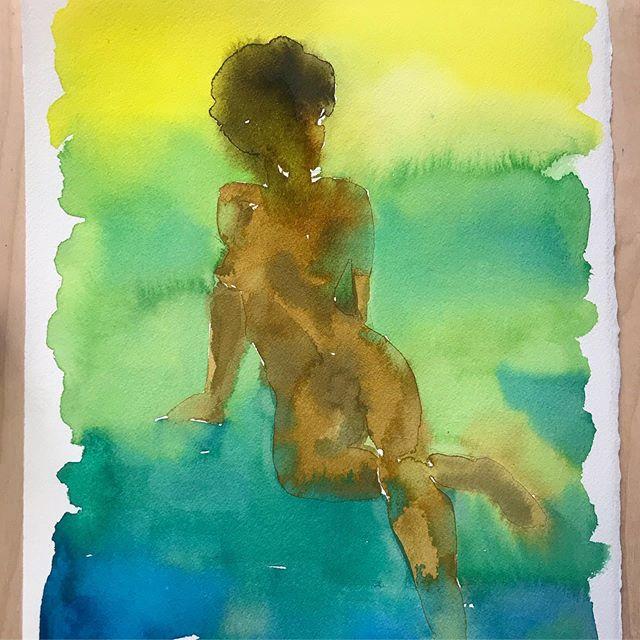 #🎨 #watercolor #workonpaper