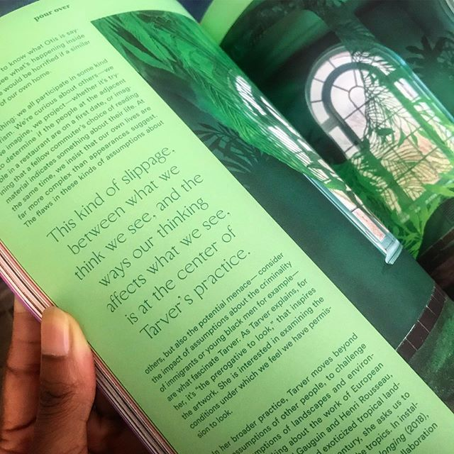So nice to see my work in print and read the product of a great conversation with curator and writer, Nicole Smythe-Johnson. Thank you @pourovermag for the feature and thank you for the thoughtful interview and article @wordsmythen. @califiafarms 🙏🏾