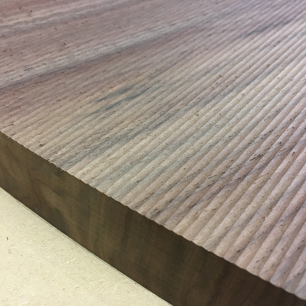 PROJECT: Tabletop With Milled Underside MATERIAL: Solid Walnut Slab