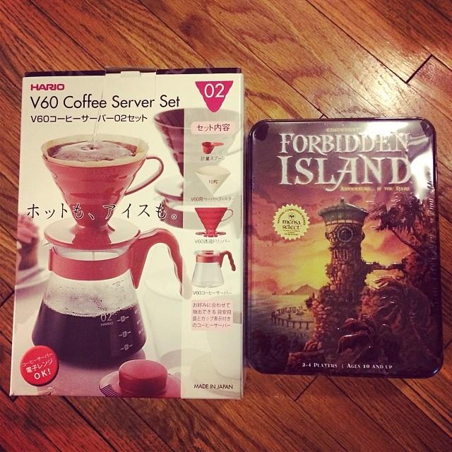 Coffee & Board Game! Thanks Sam!