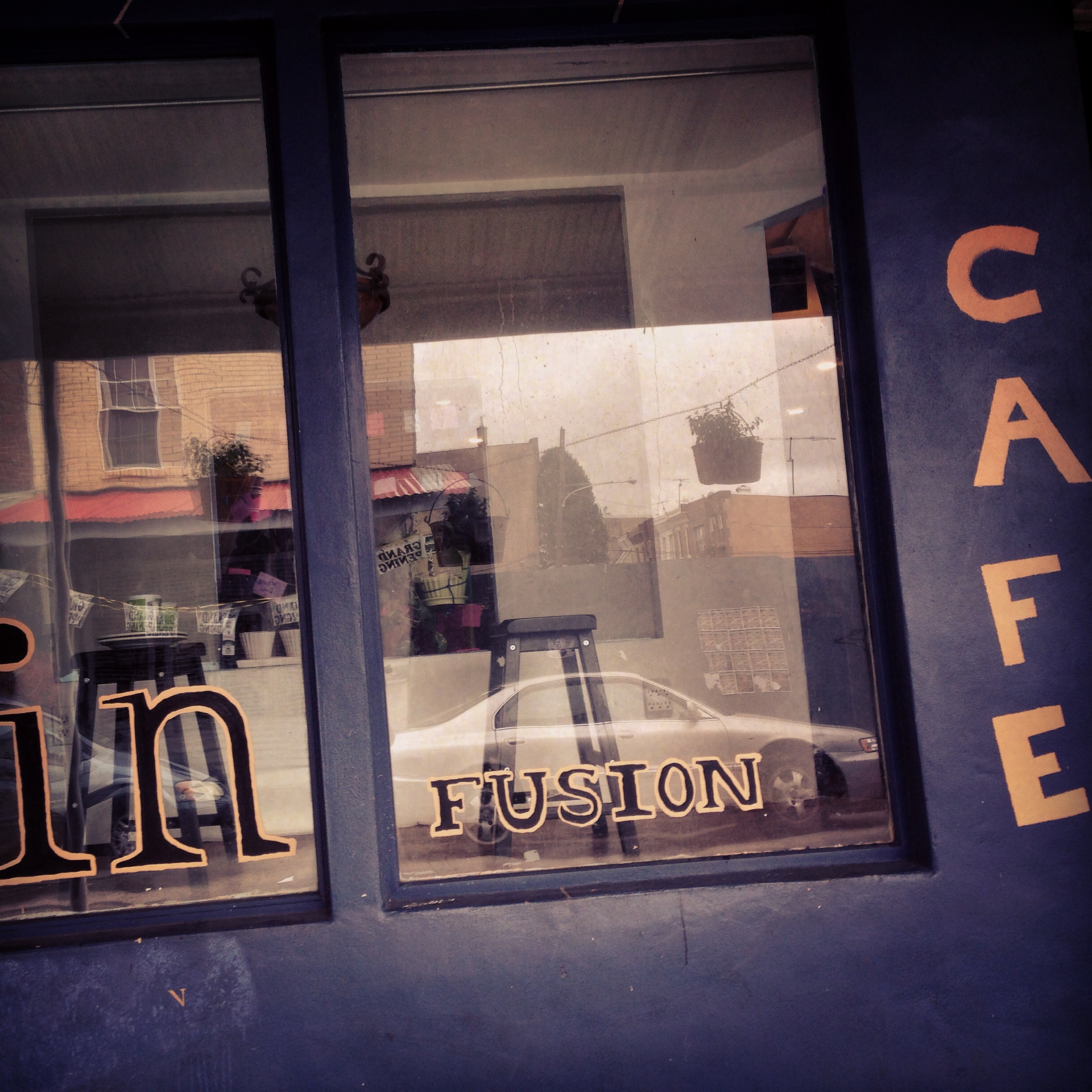 """Our """"Cafe"""" for the film."""