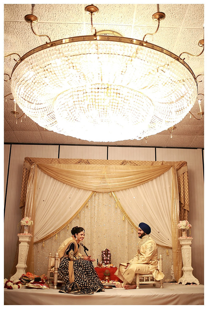 A beautiful Indian engagement ceremony!