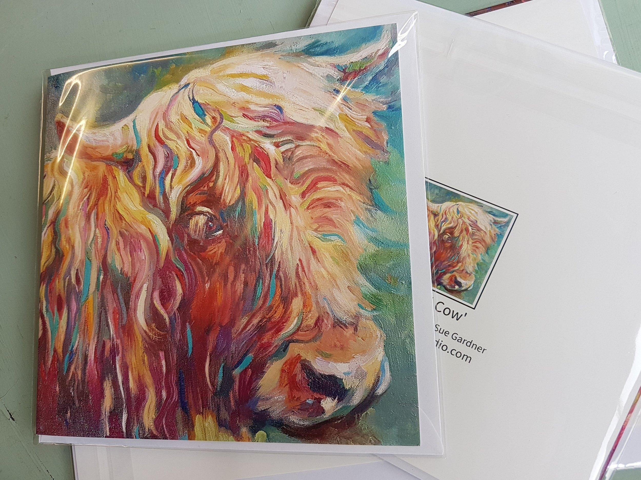 highland cow greetings card uk