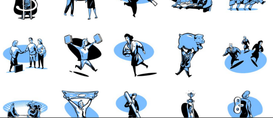 Some clip art illustrations can be useful, especially if they are in a consistent style