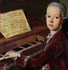 A young Mozart at the piano
