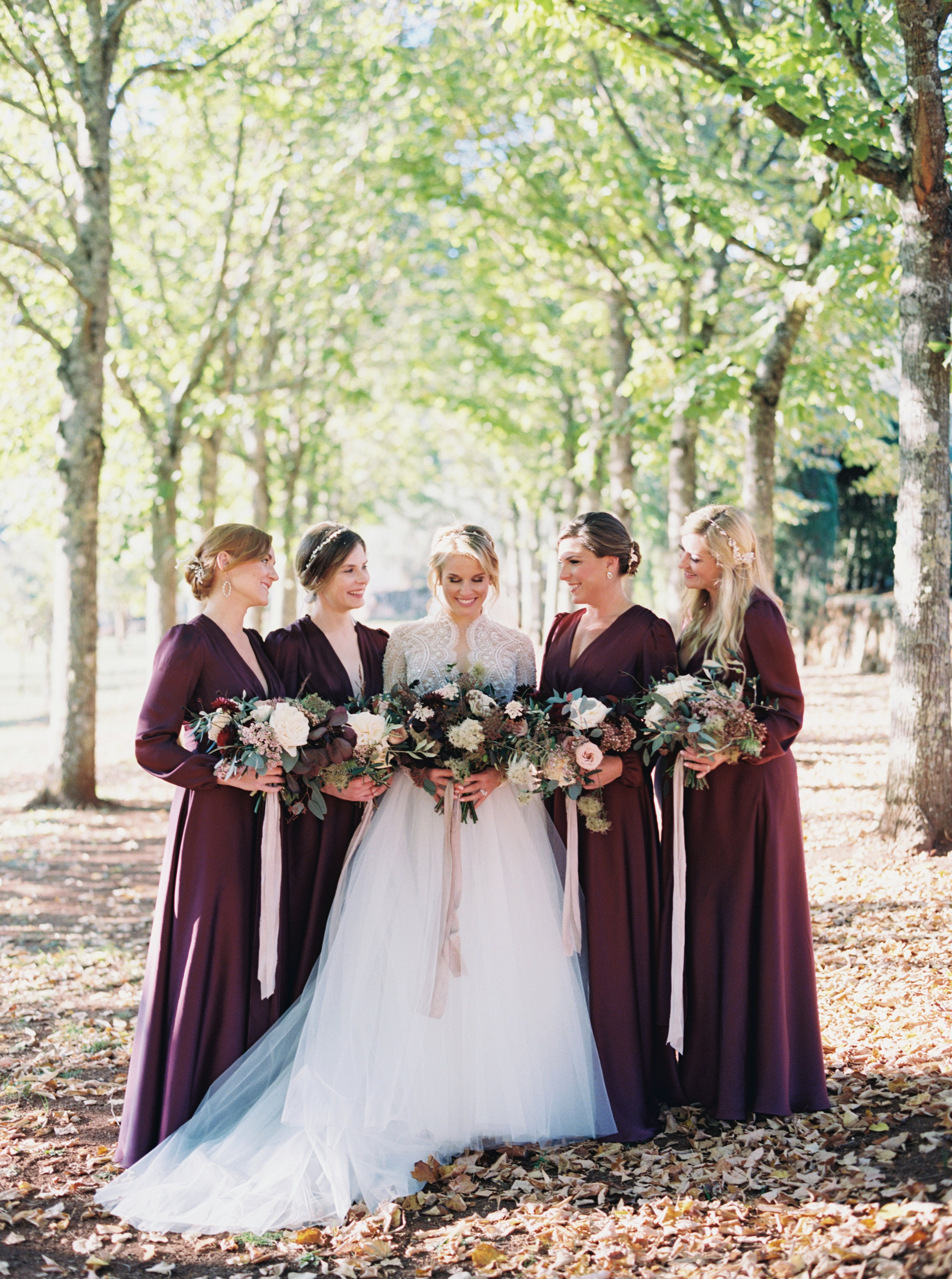 Bride and Her Maids