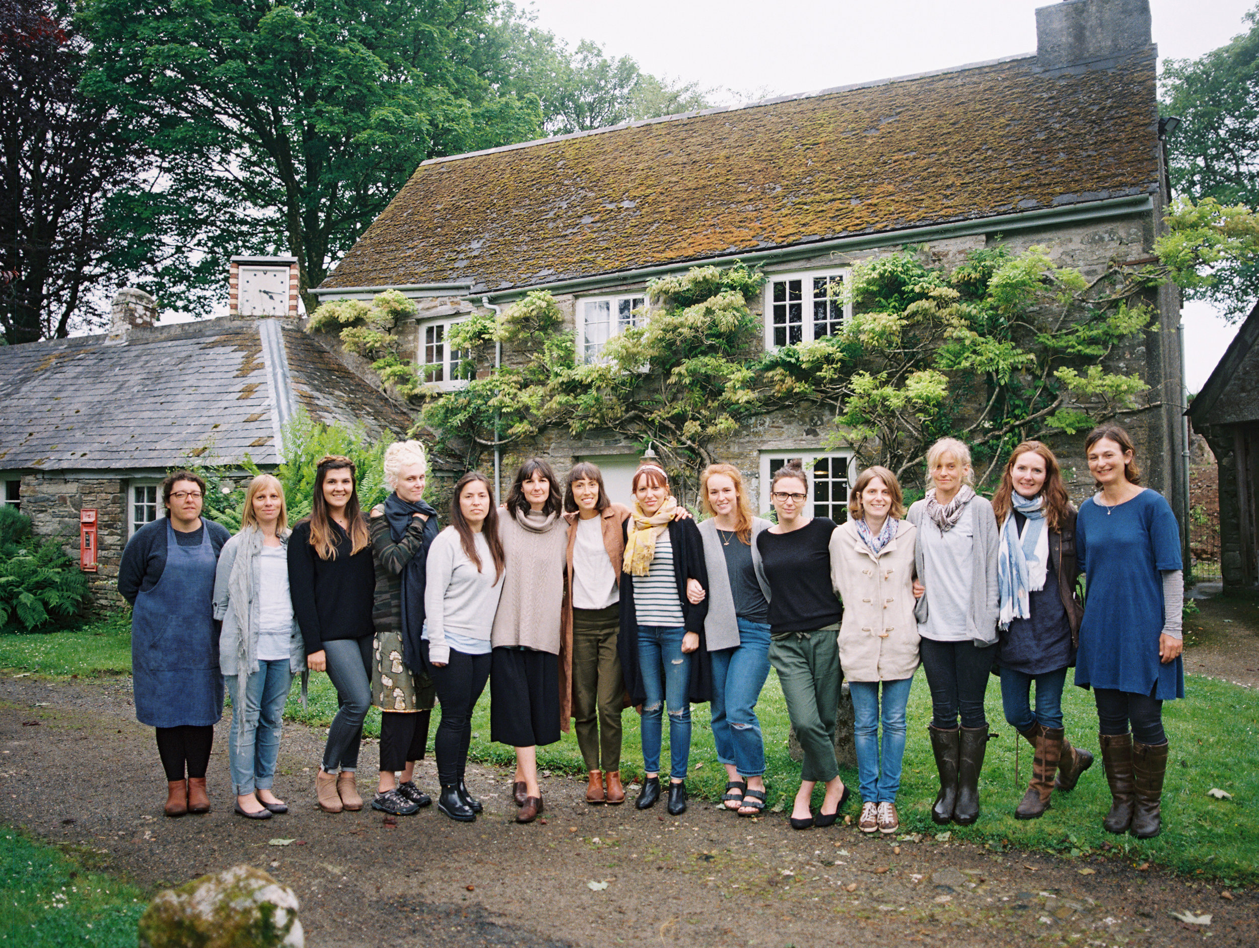 Group photo of students on our collaborative floristry class.