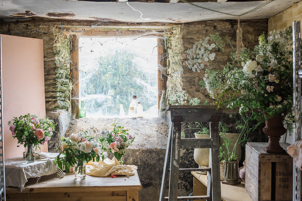 Home Grown Flowers - Cornwall Florist. Image by John of Holes in the World