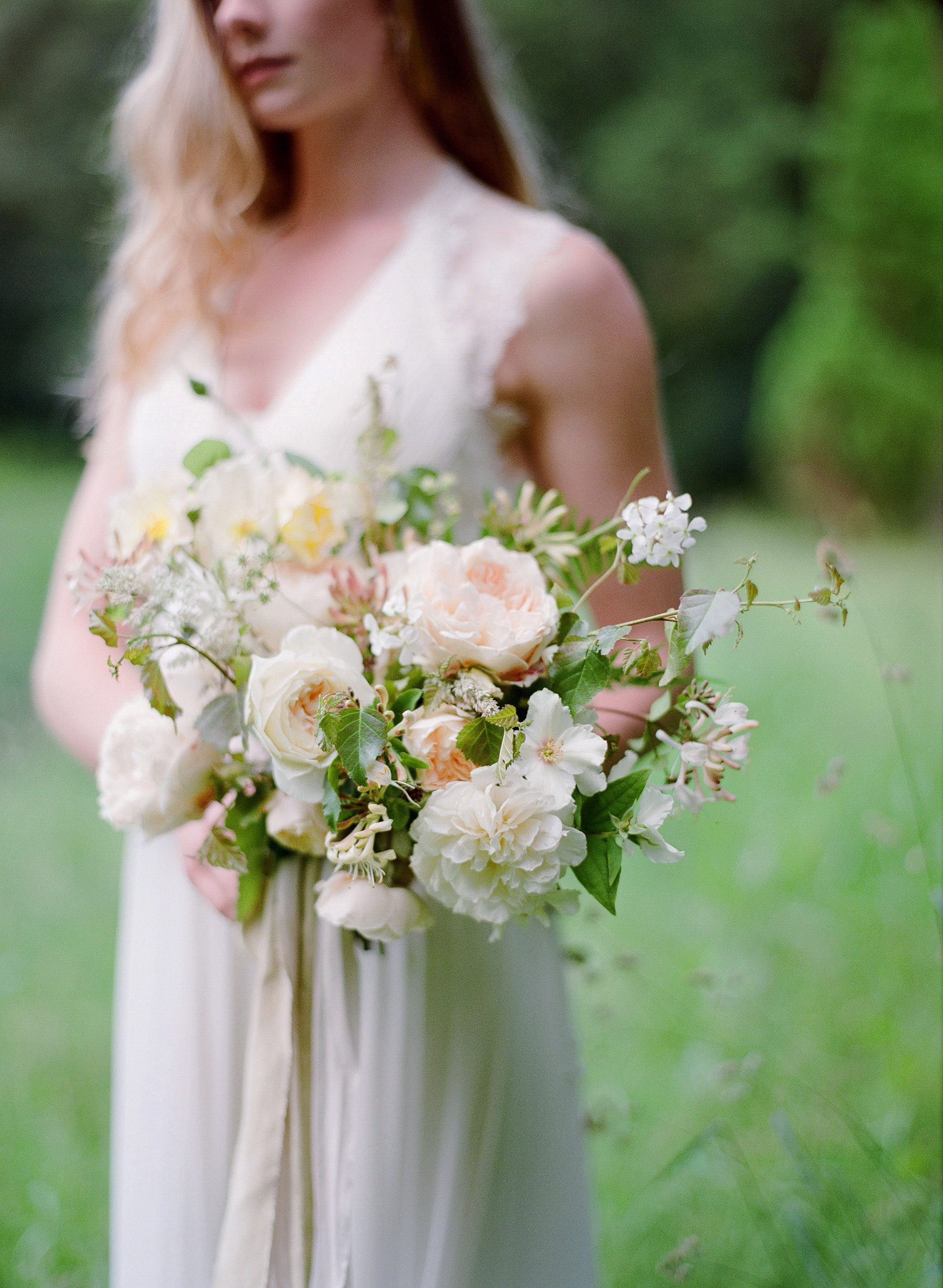 Cornish Bridal Bouquet at Boconnoc