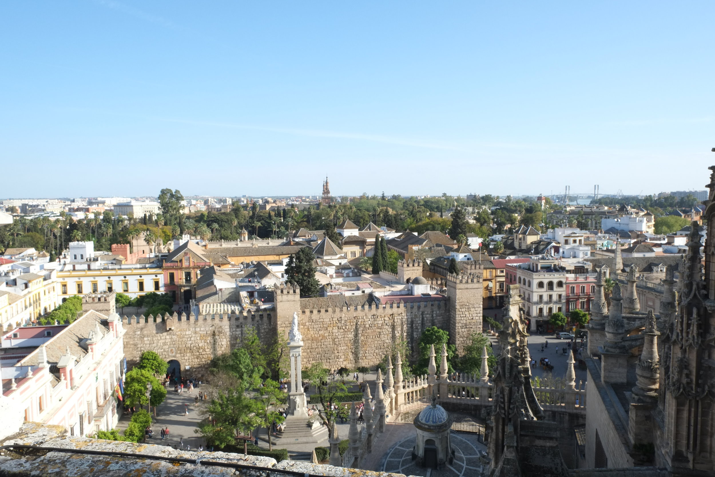 Seville from the roof of the Cathedral