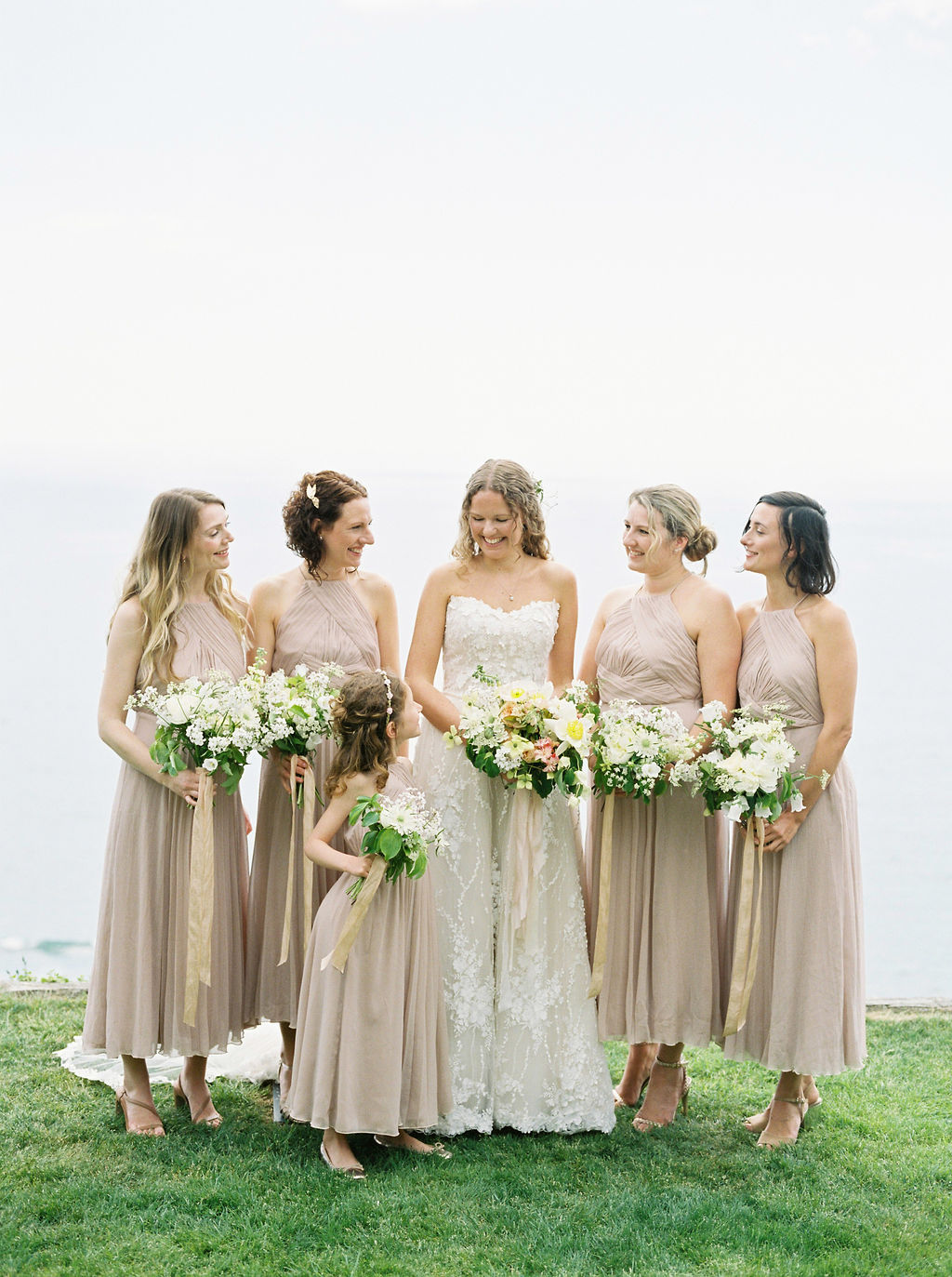 Brides and Bridesmaids bouquets using seasonal flowers.