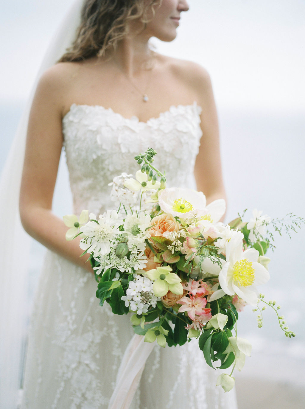 May Bridal Bouquet with British Flowers
