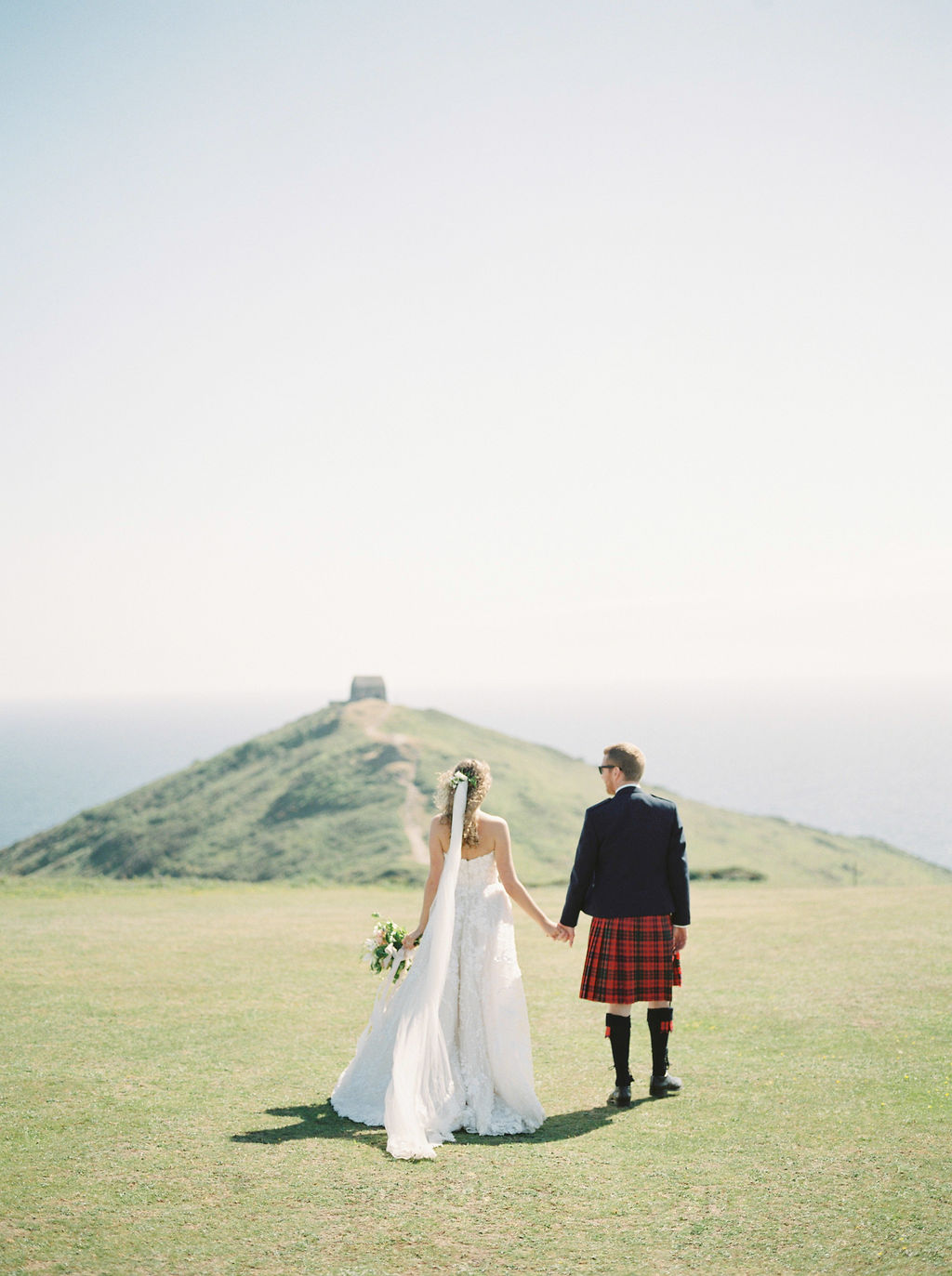 Rame Head wedding by The Garden Gate Flower Company