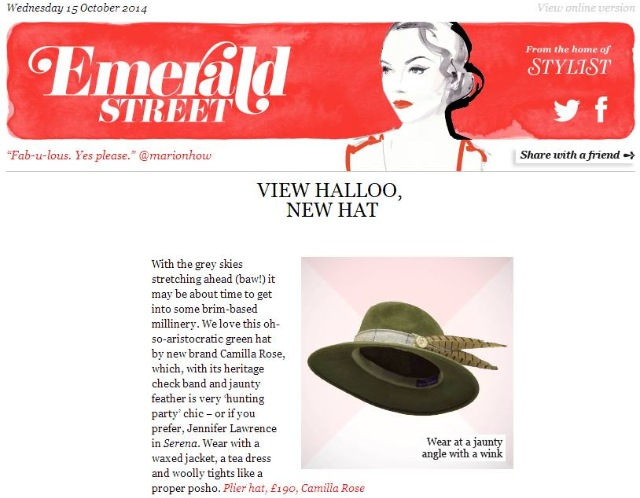 Emerald Street - October 15th 2014  (Plier Fedora)